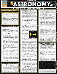 Astronomy Quick Study Chart