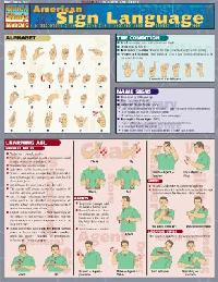 American Sign Language Quick Study Chart