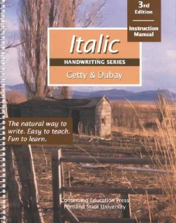 Italic Handwriting, Instructional Manual