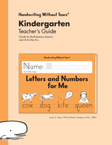 Handwriting Without Tears: Letters and Numbers Teacher's Guide