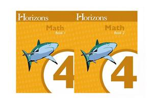 Horizons Math 4 Books 1 and 2 Student Set