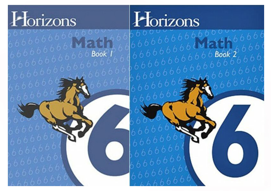 Horizons Math 6 Books 1 and 2 Student Set