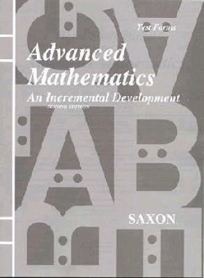 Saxon Advanced Math: Tests only; 2nd edition - Click Image to Close