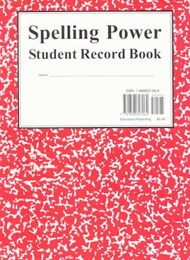 Spelling Power Record Book RED