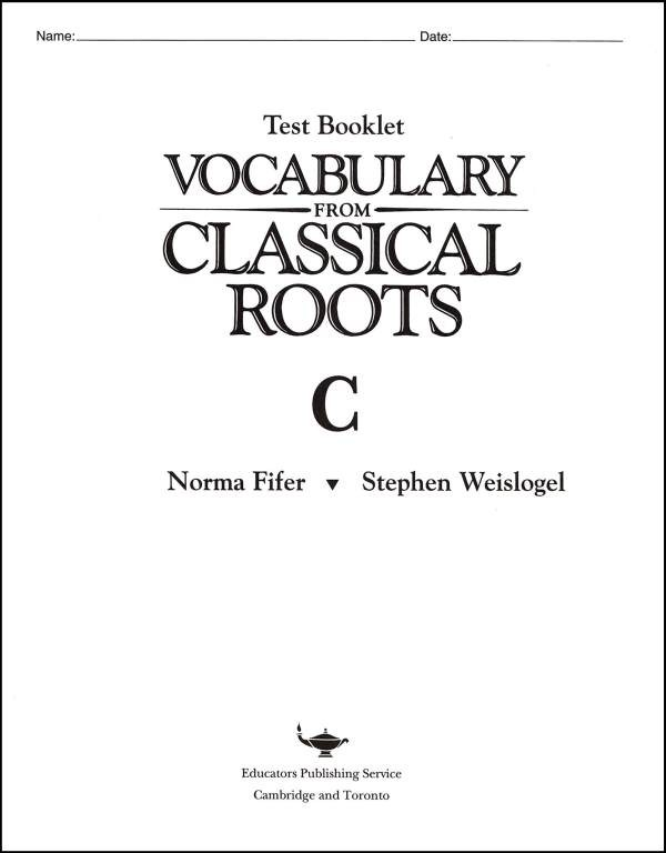 Vocabulary from Classical Roots C Tests