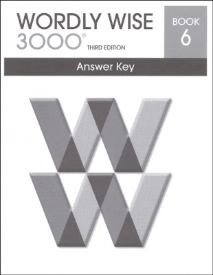 Wordly Wise 3000 3rd edition Book 6 Answer Key