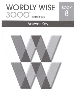 Wordly Wise 3000 3rd edition Book 8 Answer Key