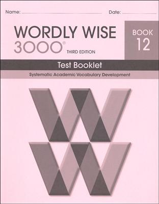 Wordly Wise 3000 3rd edition Book 12 Tests