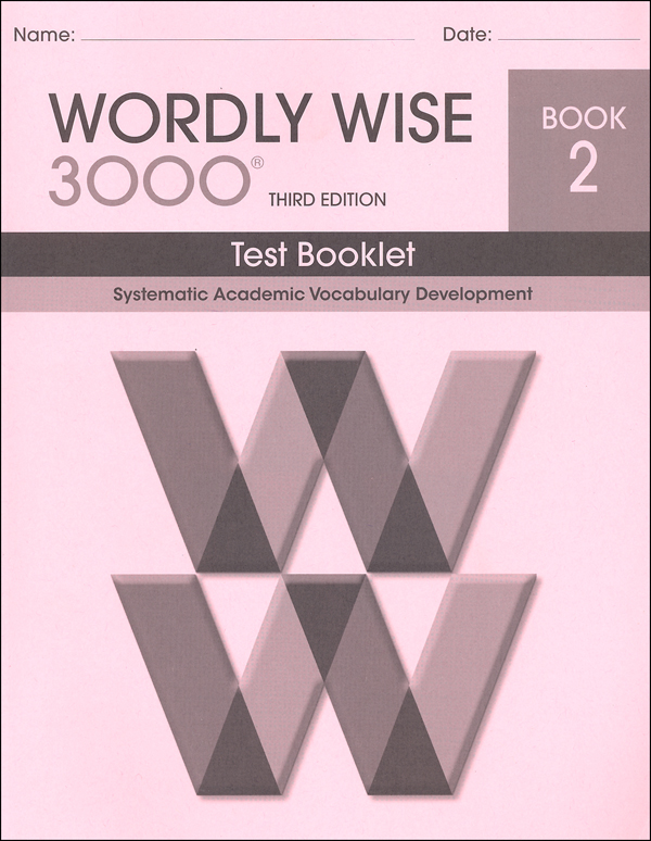 Wordly Wise 3000 3rd edition Book 2 Tests