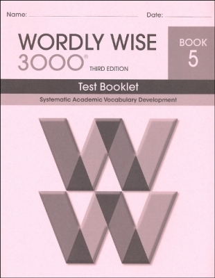 Wordly Wise 3000 3rd edition Book 5 Tests
