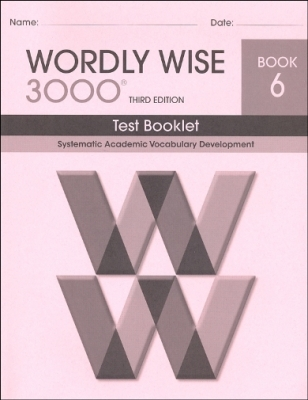 Wordly Wise 3000 3rd edition Book 6 Tests