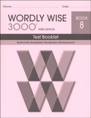 Wordly Wise 3000 3rd edition Book 8 Tests