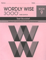 Wordly Wise 3000 3rd edition Book 9 Tests