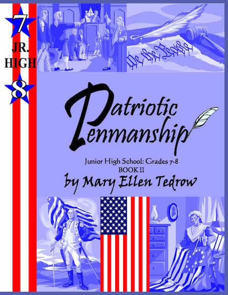 Patriotic Penmanship Grades 7 and 8 Jr High Book II(cursive)