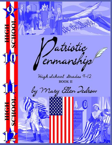 Patriotic Penmanship High School Grade 9 - 12 Book II (cursive)