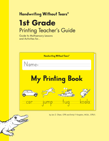 Handwriting Without Tears: My Printing Book Teacher's Edition