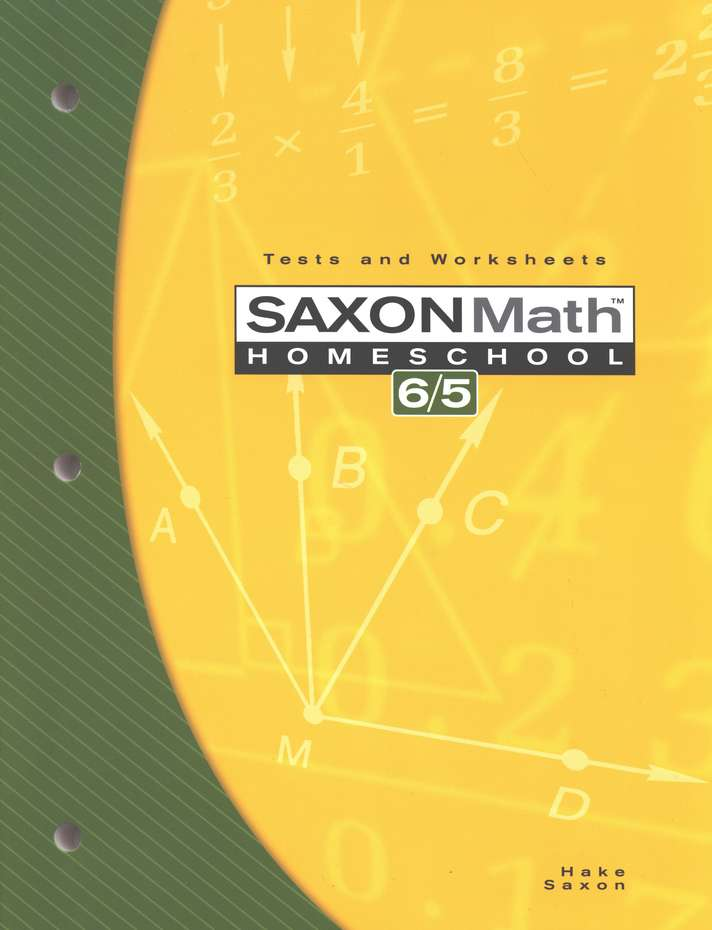 Saxon Math 65: Tests & Worksheets; 3rd edition