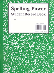Spelling Power Record Book GREEN