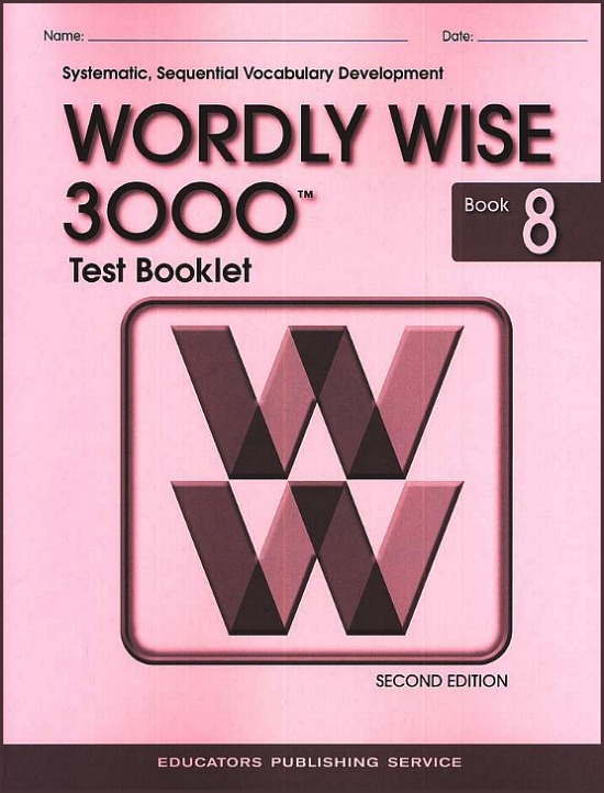 Wordly Wise 3000 2nd edition Book 8 Tests