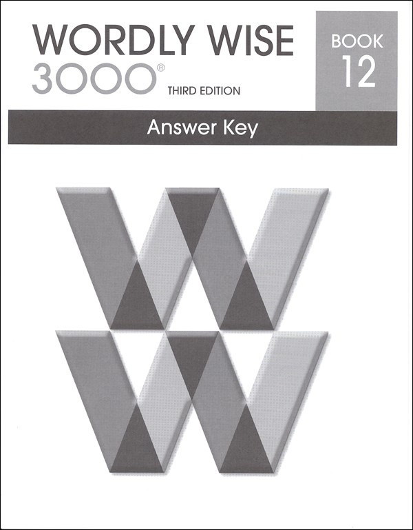 Wordly Wise 3000 3rd edition Book 12 Answer Key