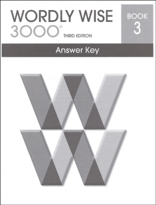 Wordly Wise 3000 3rd edition Book 3 Answer Key