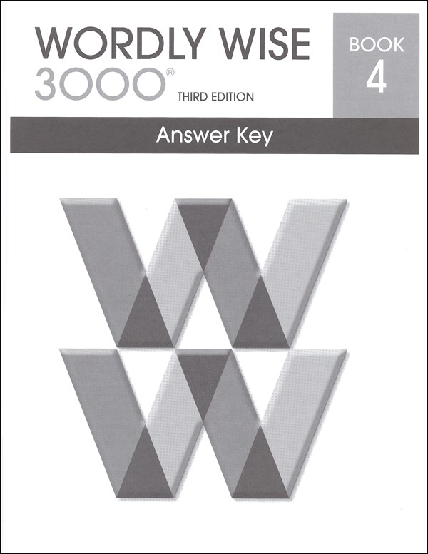 Wordly Wise 3000 3rd edition Book 4 Answer Key