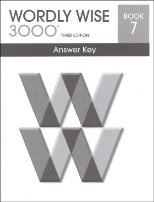 Wordly Wise 3000 3rd edition Book 7 Answer Key