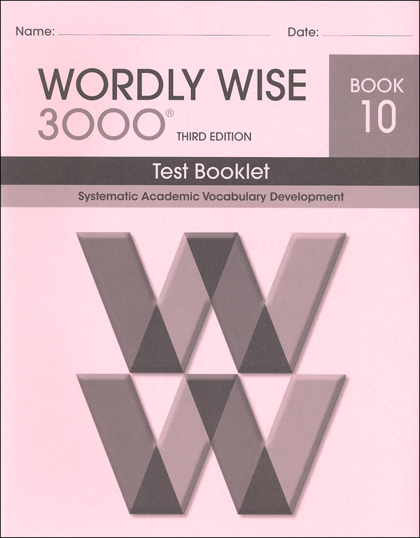 Wordly Wise 3000 3rd edition Book 10 Tests