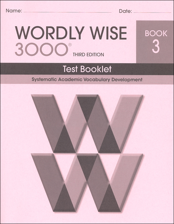 Wordly Wise 3000 3rd edition Book 3 Tests