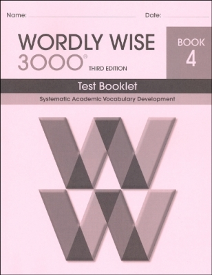 Wordly Wise 3000 3rd edition Book 4 Tests