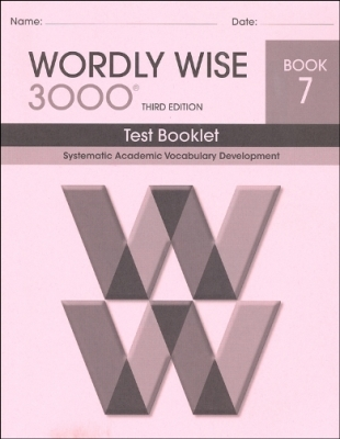 Wordly Wise 3000 3rd edition Book 7 Tests